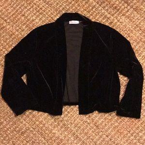 Black Velvet Calvin Klein Cropped Cardigan